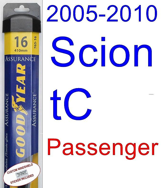 2005 - 2010 scion tc hoja de limpiaparabrisas de repuesto Set/Kit (Goodyear limpiaparabrisas blades-assurance) (2006,2007,2008,2009): Amazon.es: Coche y ...