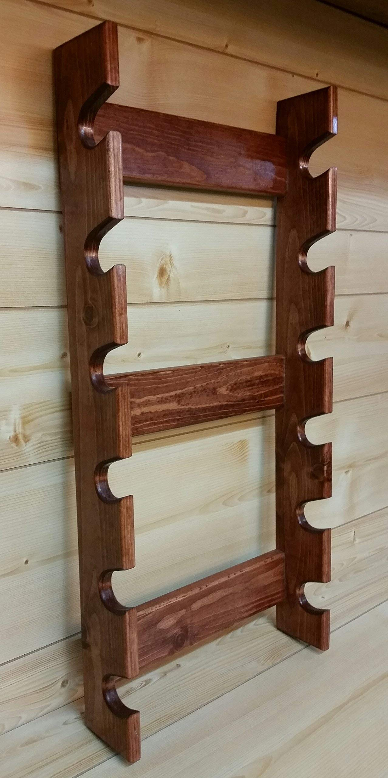 Rolling Pin Rack with Six Slots - Multiple Rolling Pin Rack - Rolling Pin Holder - Rolling Pin Storage - Rolling Pin Rack for 6 by Rusty Nail Custom Woodworking (Image #5)