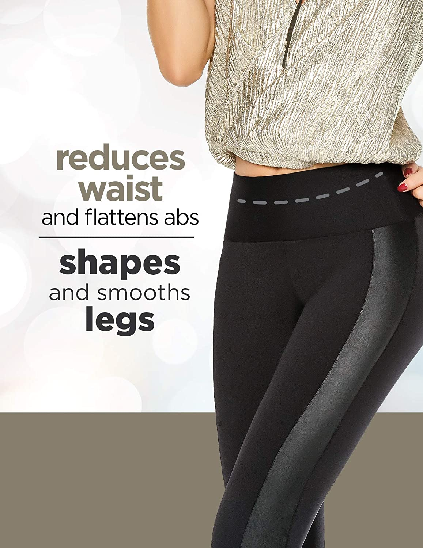 Aranza Womens Leggings High Waist Butt Lifting Tummy Control Slimming Compression Levanta Cola Large , Black34440 fits 7-8