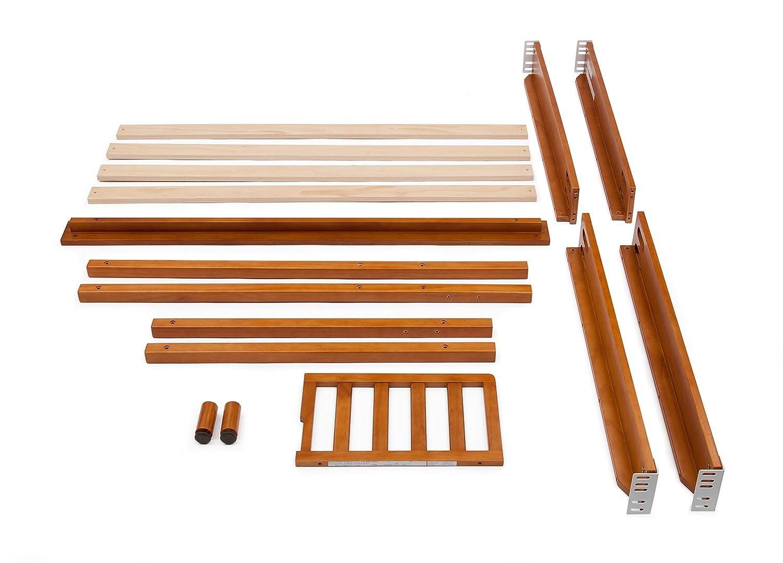 Honey Delta Children Gramercy Toddler Guardrail and Full Size Bed Rails Conversion Kit