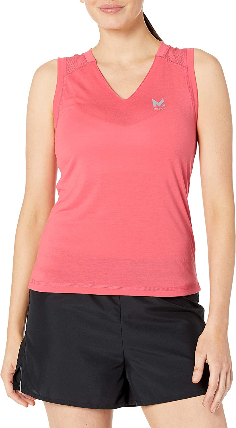 Mission Women's VaporActive Conductor Tank Top, Calypso Coral, Small