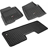 Rugged Ridge All-Terrain 82989.21 Black Front and Rear Floor Liner Kit For Select Ford F-150 Models