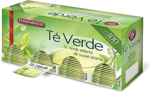Pompadour Té Verde, Pack de 2 x 100 bolsitas: Amazon.es ...