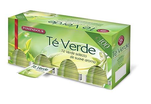 a5f3e1e14 Pompadour Té Verde - 100 bolsitas - [pack de 2]: Amazon.es ...