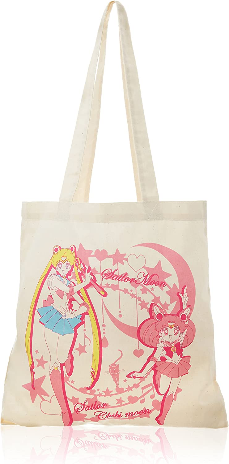 Sailor Moon algodón Tote Ecológica bolsa (bolsa) (Sailor Moon and ...