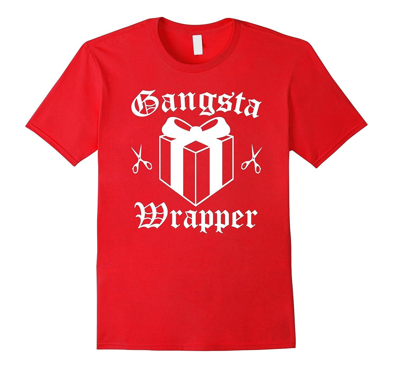 Gangsta Wrapper Christmas Holiday T-Shirt-ANZ