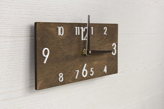 Amazon.com: Wooden Wall Clock - Brown Wall Clock - Dark Brown ...