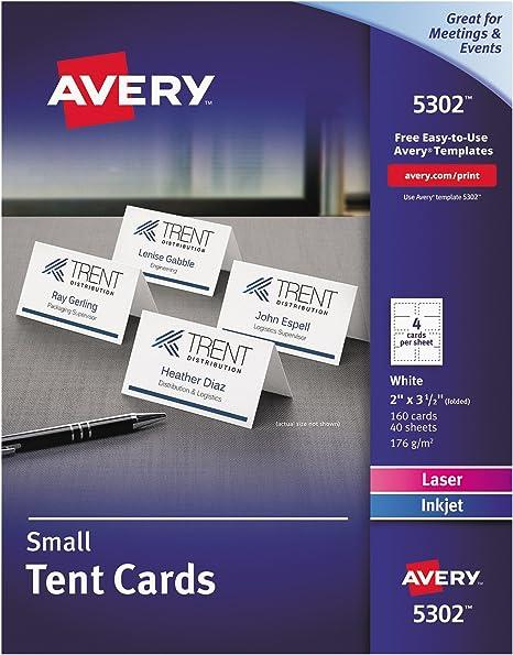 Amazon.com: Avery Printable - Tarjetas para tiendas de ...