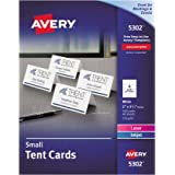 Avery 5302 Small Tent Card, White, 2 x 3 1/2, 4 Cards per Sheet (Box of 160)