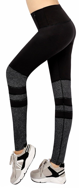 Black Grey(Ankle) Sugar Pocket Women's Workout Leggings Running Tights Yoga Pants Red