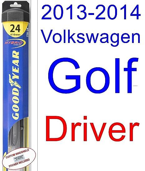 2013 – 2014 Volkswagen Golf hoja de limpiaparabrisas de repuesto Set/Kit (Goodyear limpiaparabrisas