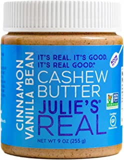 product image for Julie's Real Cinnamon Vanilla Bean Cashew Butter - 9 Ounce Jar