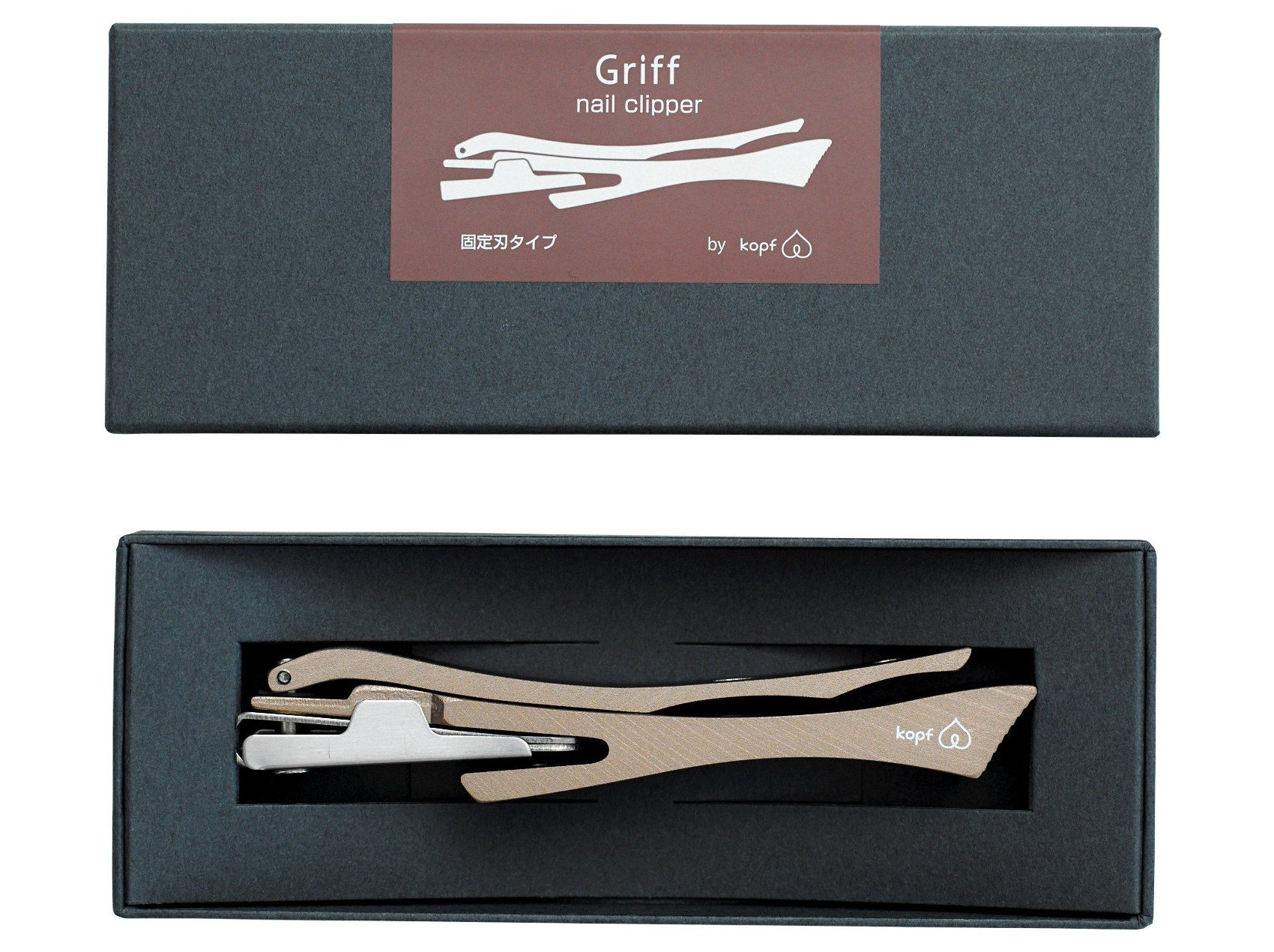 Seki Japan Nail Cripper Griff High Carbon Stainless Steel, Maroon Body