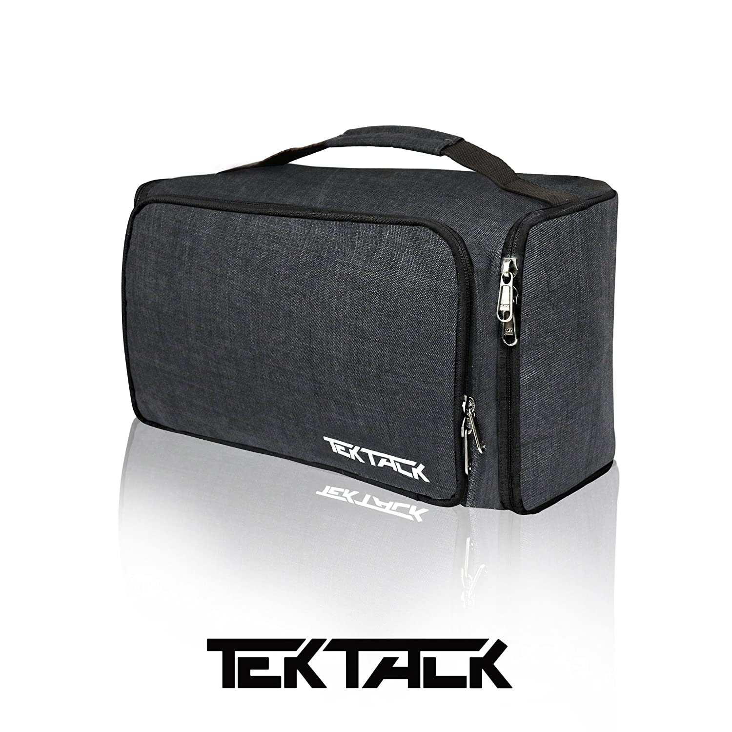 Tektalk Multifunctional Foldable Toiletry Bag Hanging Cosmetic Kit Portable Makeup Case with Large Capacity Suitable for Travels, Business Trips and Vacations – Black