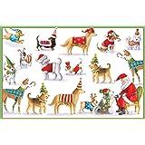 Entertaining with Caspari Waiting For Santa Christmas Cards, Box of 16