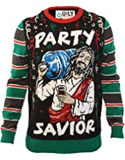 Ugly Christmas Party Sweater Men's Jesus Party Savior Long Sleeve Sweatshirt