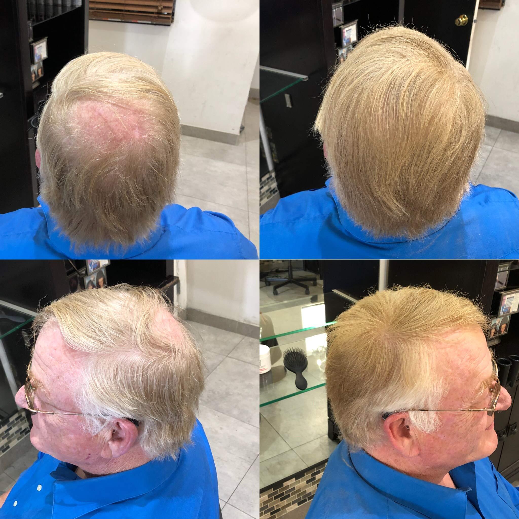 Hair Cubed® - Light Blond, Hair Building Fiber Spray -(Water Proof) Lasts 2 - 5 Months by Hair Cubed  Light Blonde Hair Fiber (WaterProof) (Image #2)