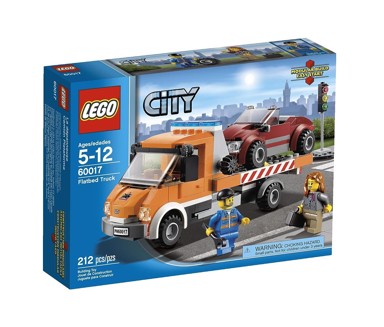 Amazon Lego City Flatbed Truck 60017 Toys Games