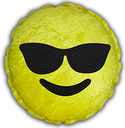Crystal Cool Face Sunglasses Emoji Cushion Smiley Face Emoticon