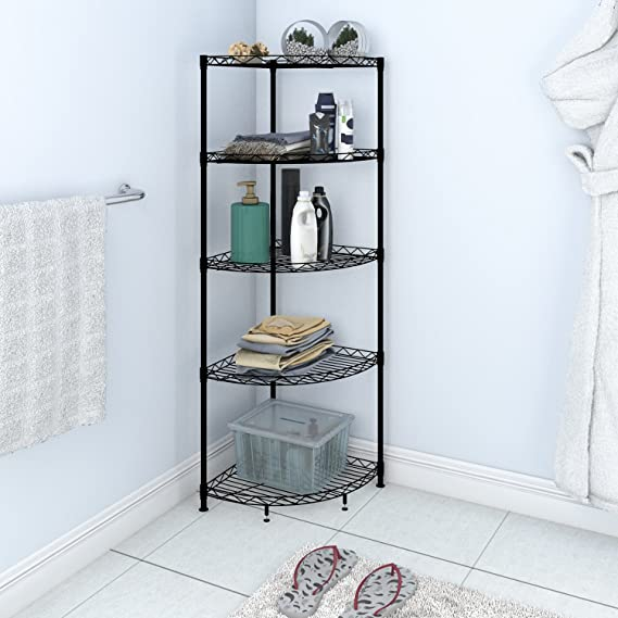 Lifewit Corner Shelf 5 Tiers Adjustable Metal Storage Wire Shelving ...