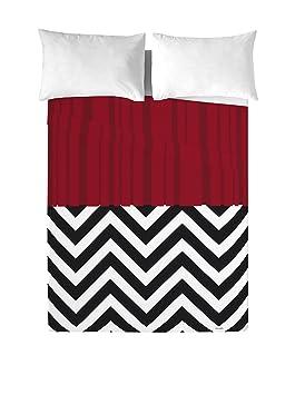 Davidelfin Ensemble De Draps Twin Peaks Blanc Rouge Noir Lit 150