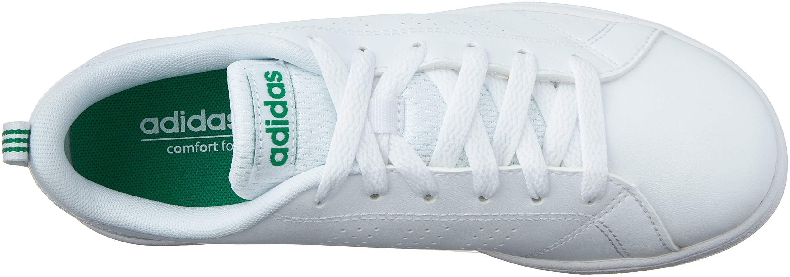 adidas Kids' VS Advantage Clean Sneaker, White/White/Green, 1.5 M US Little Kid by adidas (Image #7)