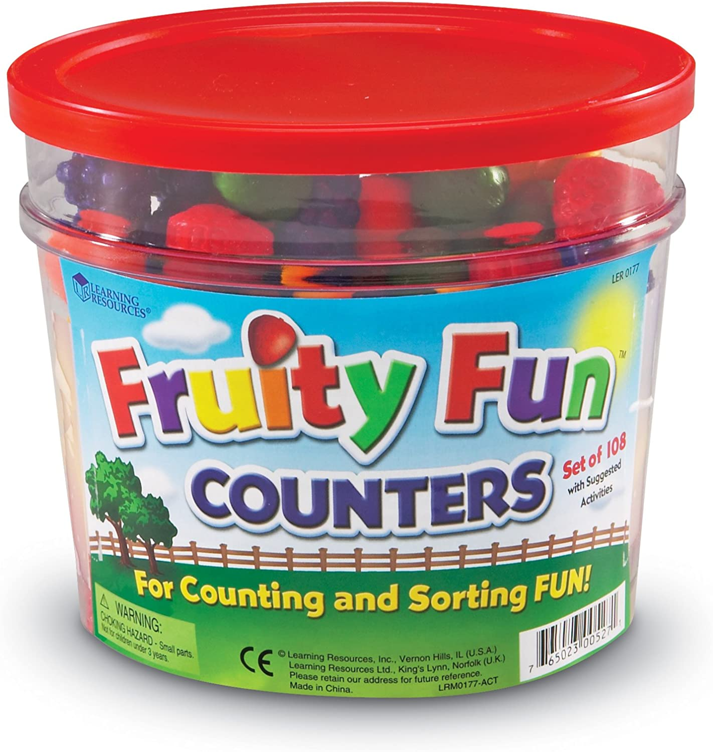Amazon Com Learning Resources Fruity Fun Counters Educational Counting Sorting Toy Set Of 108 Toys Games