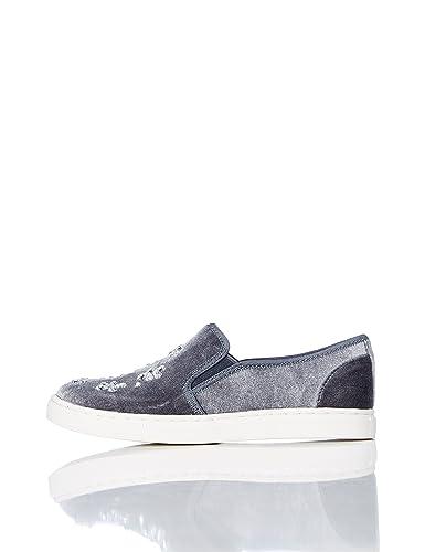 RED WAGON Mädchen Sneaker mit Schleife, Grau (Grey), 34.5 EU