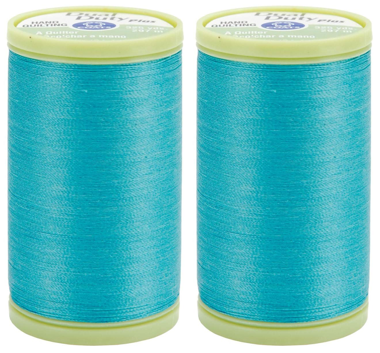 Coats /& Clark Dual Duty Plus Hand Quilting Thread 325yds River Blue s960-5450 2-Pack