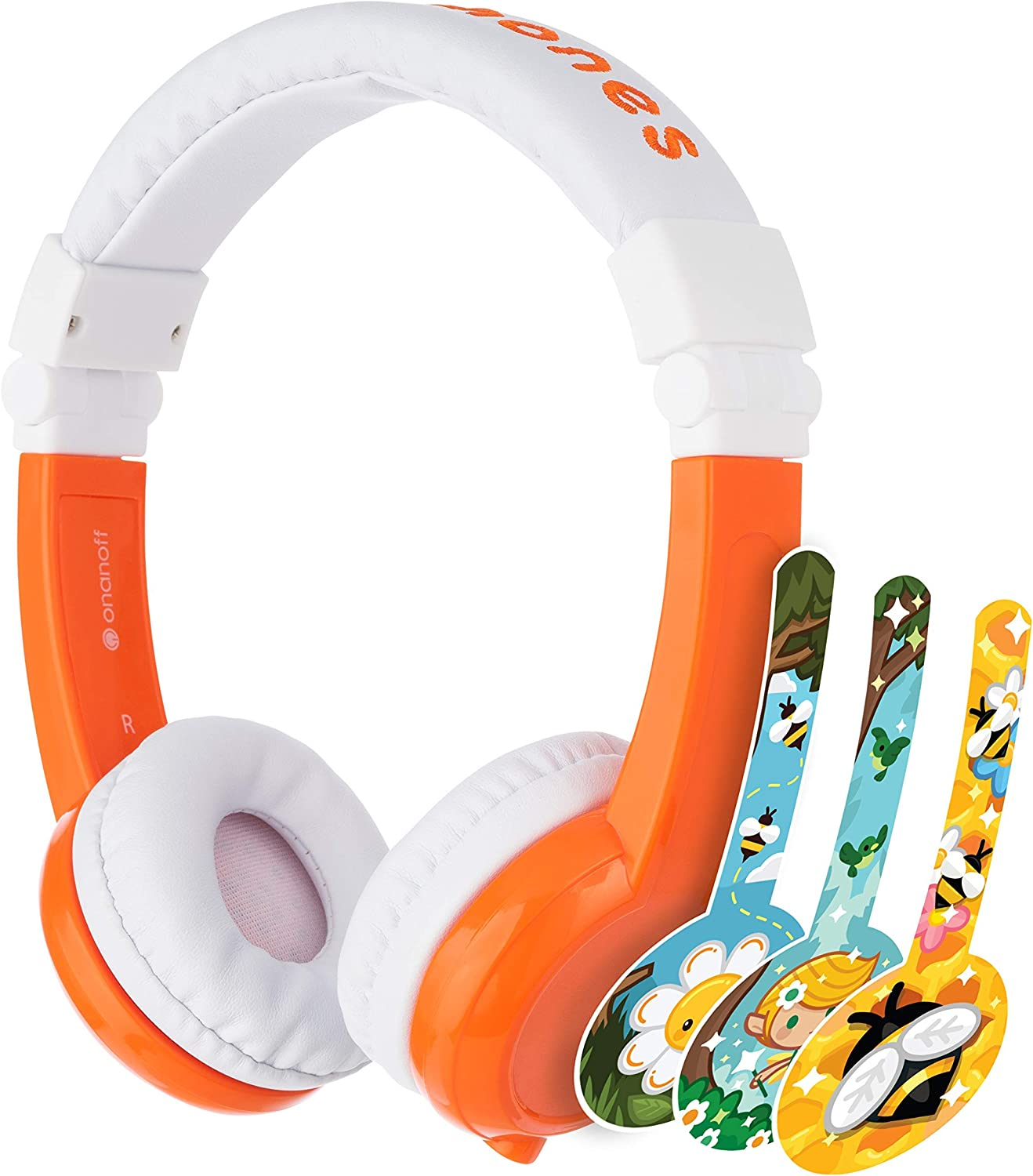 Kids Foldable Headphones For The Toddler travel on Airplane