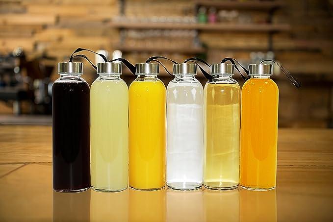 Amazon.com: Botellas de Agua de vidrio con mangas ...