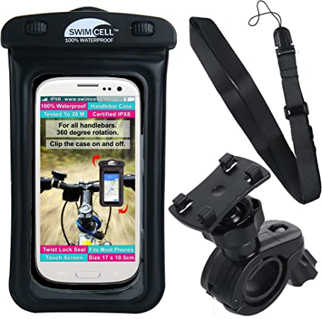 ENONEO Bicycle Phone Holder Waterproof Bike Mobile Phone Holder with Sensitive Touch Screen Hard Shell Bike Handlebar Phone Bag Motorbike Phone Mount for iPhone 11//X//XR//7//8//Samsung up to 6.5