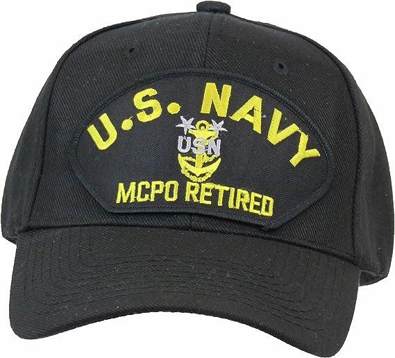 US Navy Master Chief Petty Officer Retired Ball Cap MCPO Hat Blue Khaki White BKW