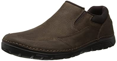 Rockport Men's RocSports Lite ZoneCush Slip On Dark Brown 8.5 W (EE)-8.5