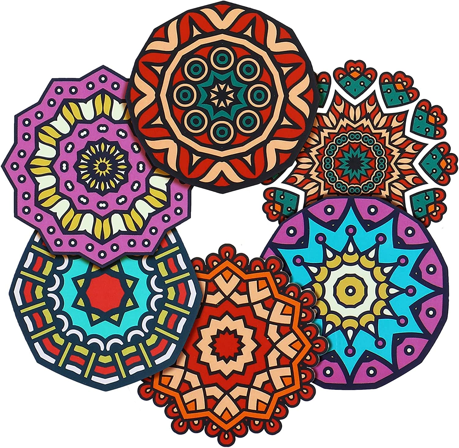 360 Pieces Mandala Stickers Mandala Flower Seals Labels 2 Inch Large Round Mandala Decals for Wall Laptop Water Bottles Holiday Greeting Cards Presents Envelopes Boxes