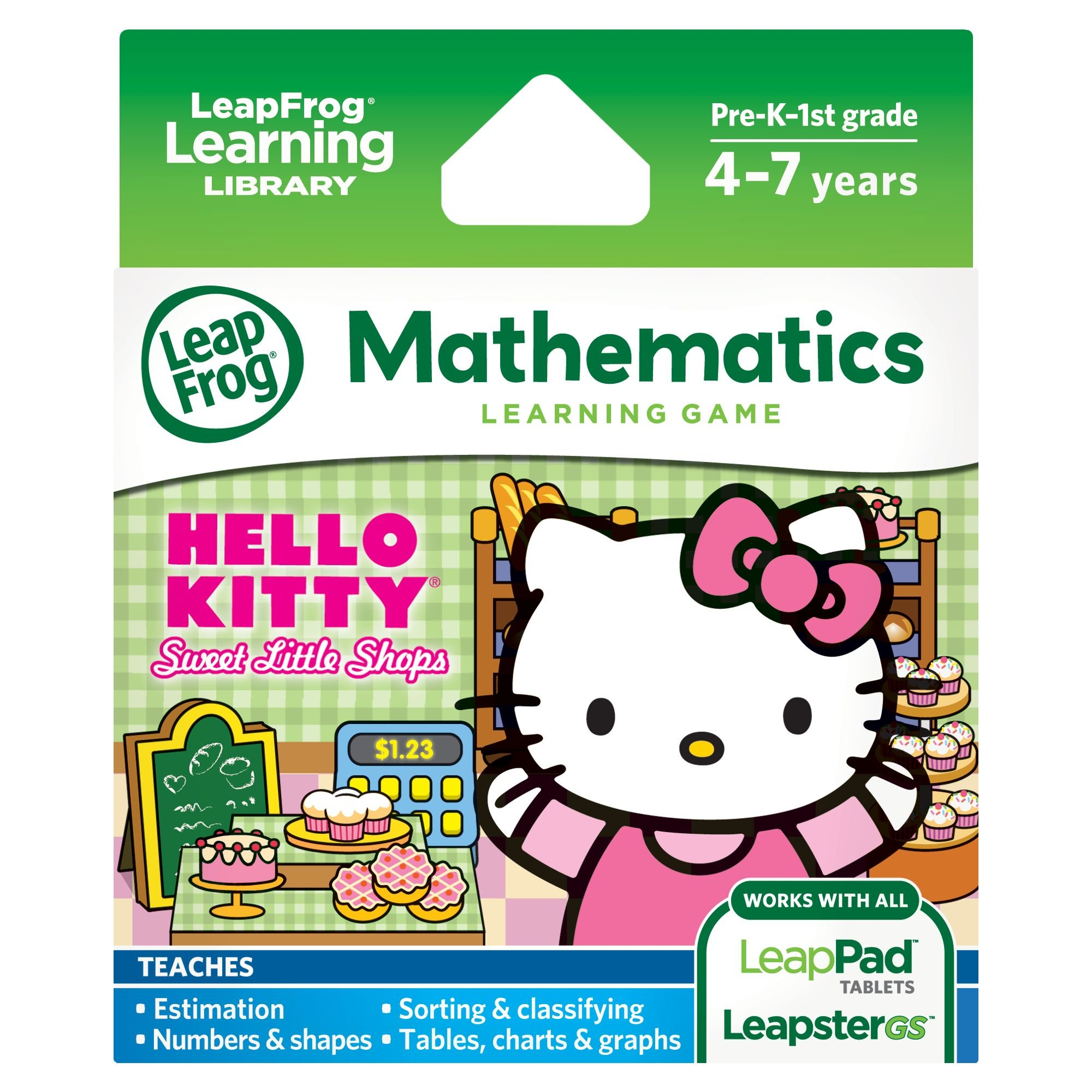 LeapFrog Learning Game Hello Kitty: Sweet Little Shops (works with LeapPad tablets and LeapsterGS) by LeapFrog