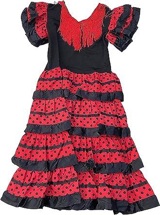 Vestido de flamenco, sevillanas, para niña: Amazon.es: Ropa y accesorios