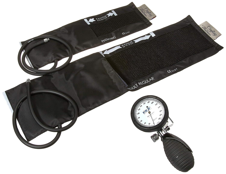 MDF® Bravata® Palm Esfigmomanómetro aneroide - Monitor profesional de presión arterial (adulto y pediátric) - Negro - Garantía de por vida & Programa piezas ...