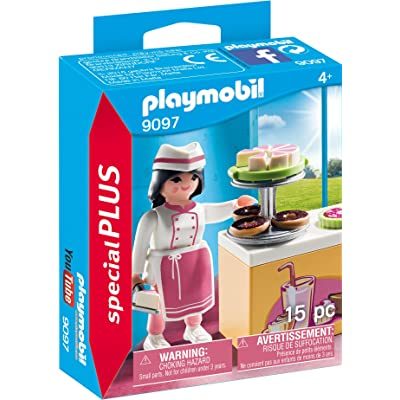 PLAYMOBIL Pastry Chef Building Set: Toys & Games