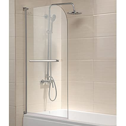 Mecor 55u0026quot;X31u0026quot; Bathtub Glass Enclosure Shower Door Hinged  Frameless 1/4u0026quot;