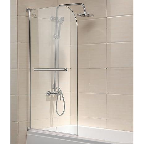 Mecor Shower Door 55x31 Glass Enclosure Hinged Bathtub Door