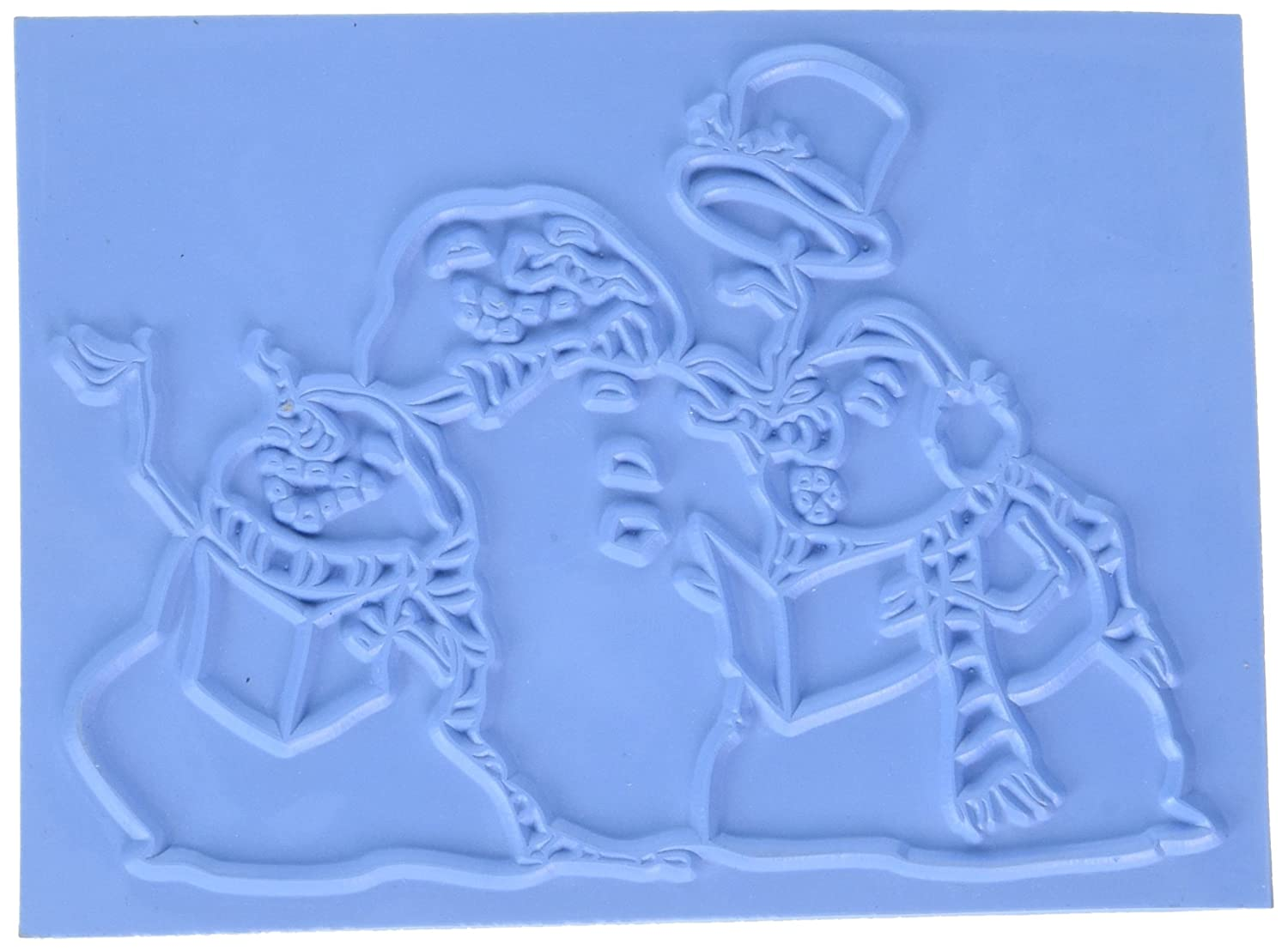 Caroling Trio Little Darlings Unmounted Rubber Stamp 4.542 by 3.25-Inch