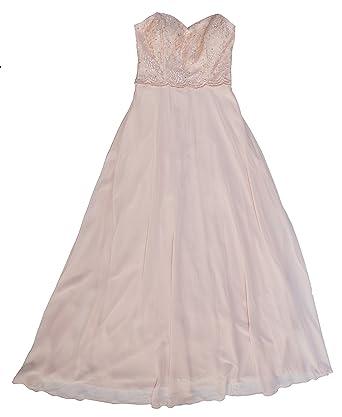Xscape Floor-Length Corset Sweetheart Prom Dress (4, Peach)