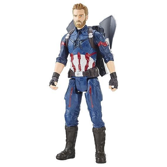Figura de Capitán América de Avengers Marvel Infinity War Titan Hero Power FX