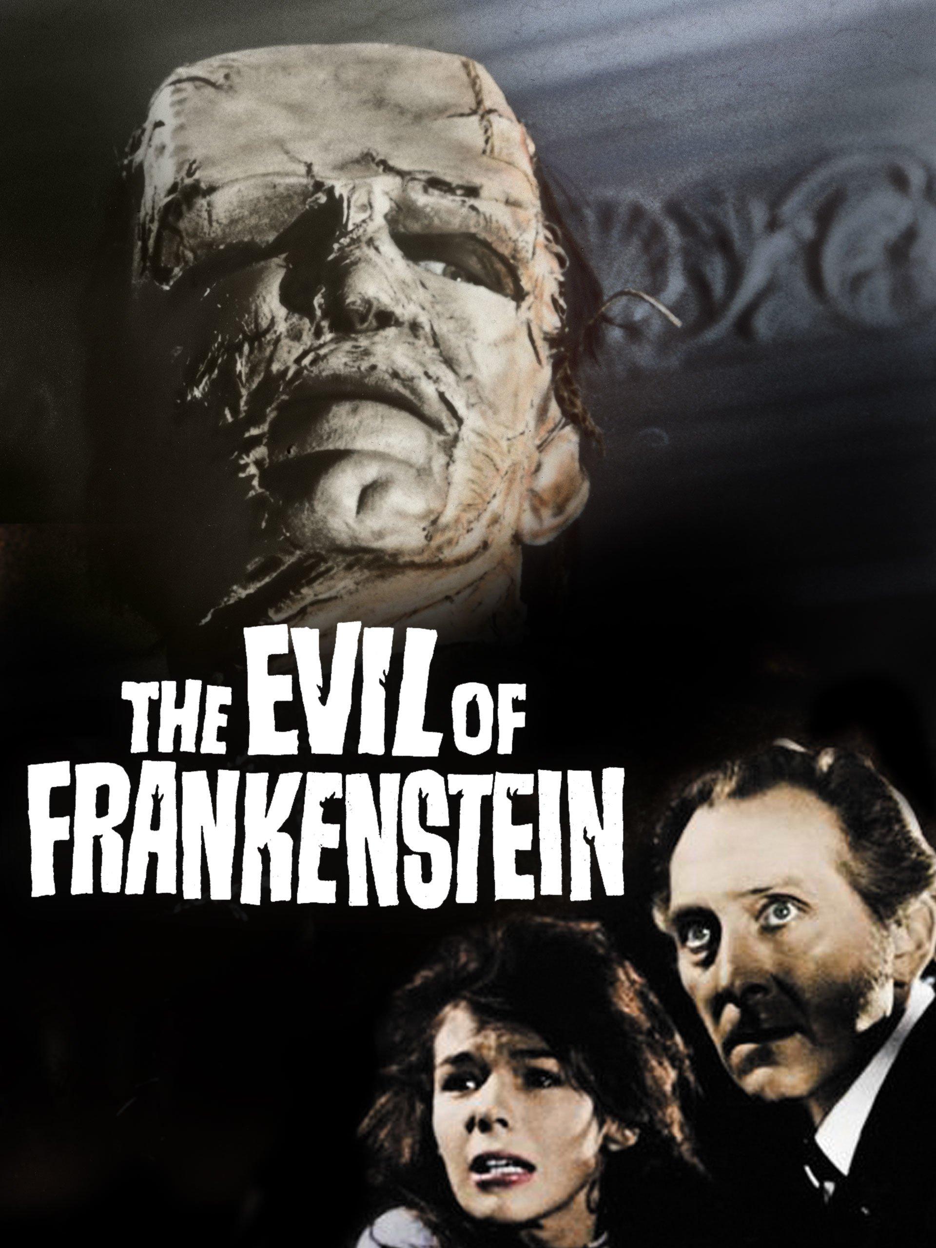 The evil of Frankenstein horror movie poster print
