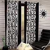 Fashion String 2 Pieces Window Curtain Set, 5 feet Long,Brown-(116 cm x 152 cm)