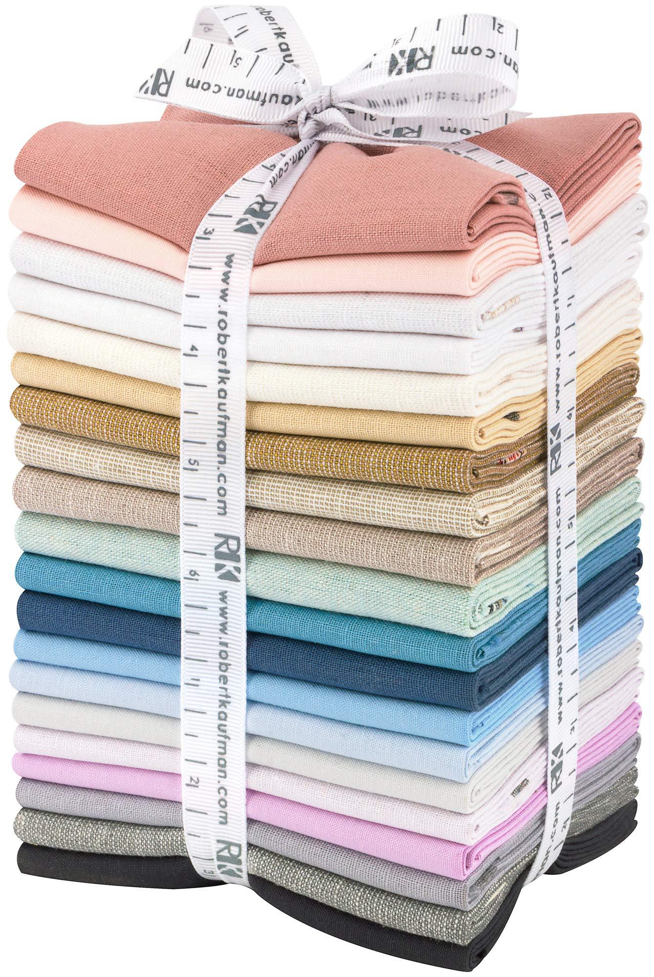 Winter Shimmer Coordinates 20 Fat Quarters by Jennifer Sampou for Robert Kaufman Fabrics FQ-1489-20 by Robert Kaufman Fabrics