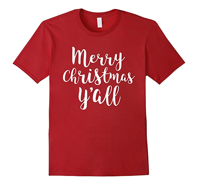 mens merry christmas yall cute southern slang t shirt 2xl