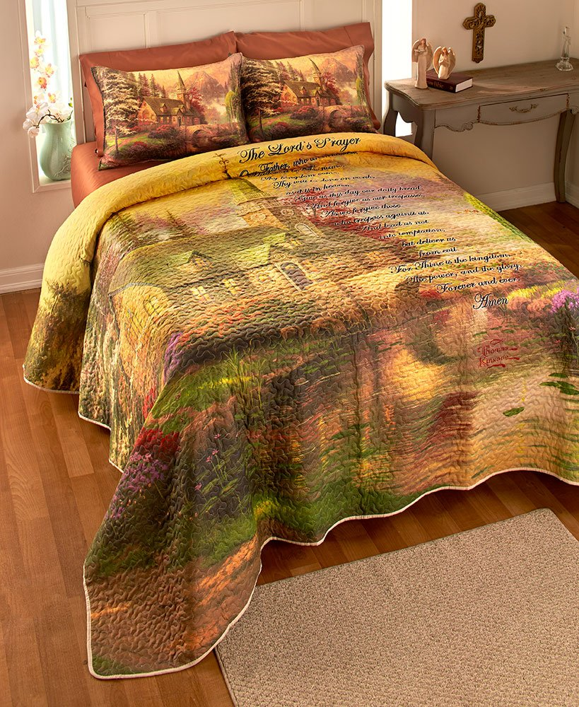 The Lords Prayer Printed Quilt Set - King Size