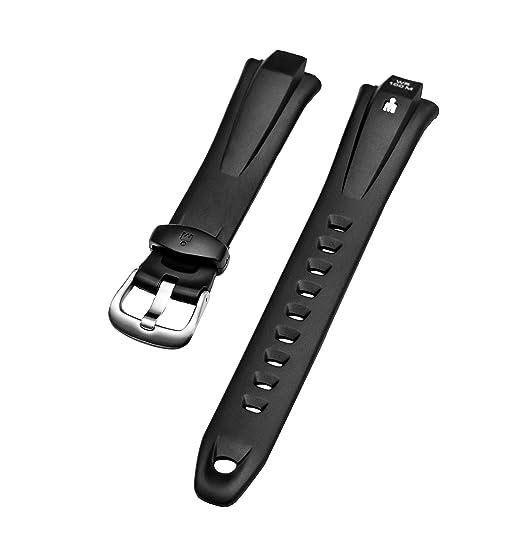 Pulsera para reloj Timex Ironman (16 mm) 50 Lap, de caucho negro (